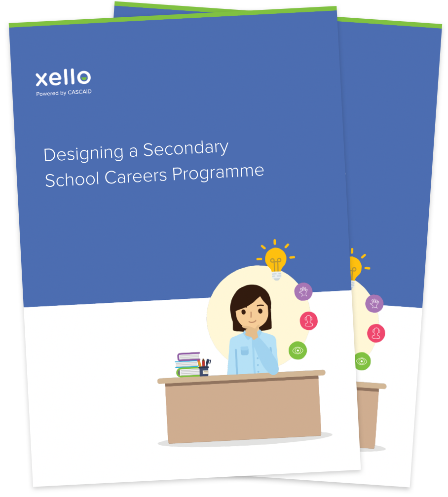 Cover pages of careers programme guide